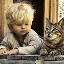 Детишки и кошки смешных фото приколов