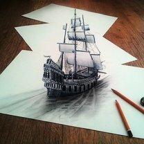 Объёмные рисунки, сделанные от руки