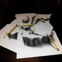Объёмные рисунки, сделанные от руки фото приколы