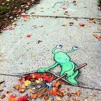 Чудик живёт в тротуаре