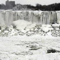 Замёрзший Ниагарский водопад фото