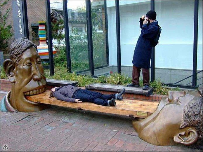 Смешное творчество в скульптурах 21