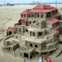 Поразительные песочные замки фото