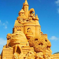 Поразительные песочные замки фото приколы