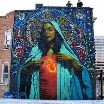Яркие произведения искусства на зданиях фото приколы