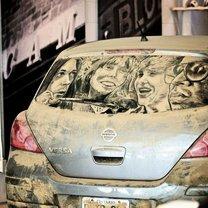 Живопись на чумазых автомобилях