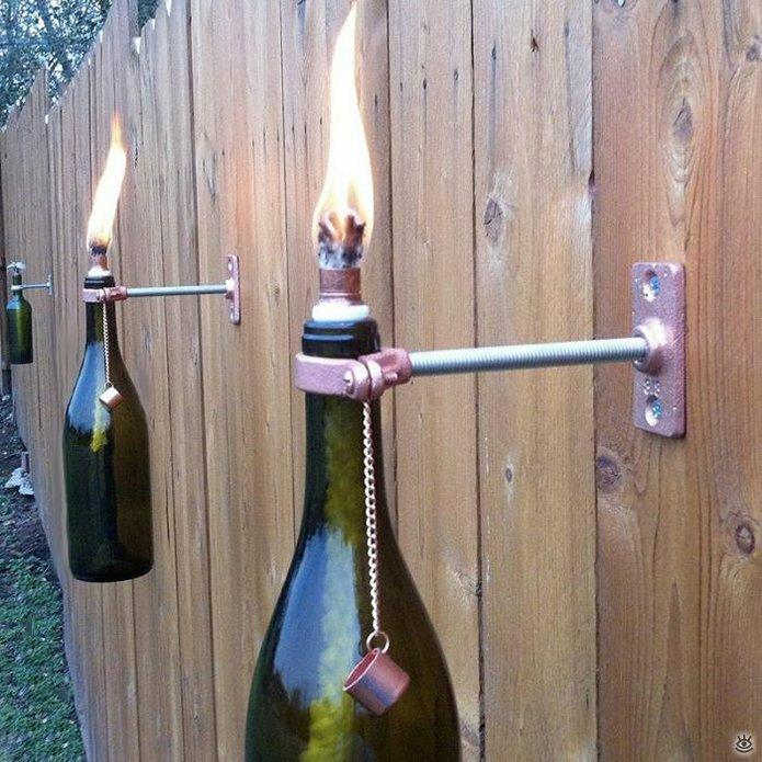 Стеклянные бутылки в интерьере 6