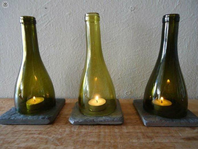 Стеклянные бутылки в интерьере 7