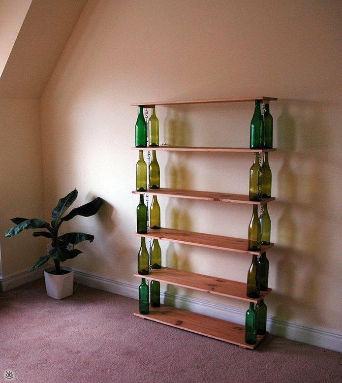 Стеклянные бутылки в интерьере 9