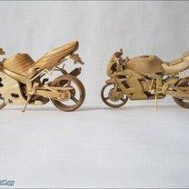 Мотоциклы из дерева фото 2