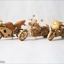 Мотоциклы из дерева фото 3