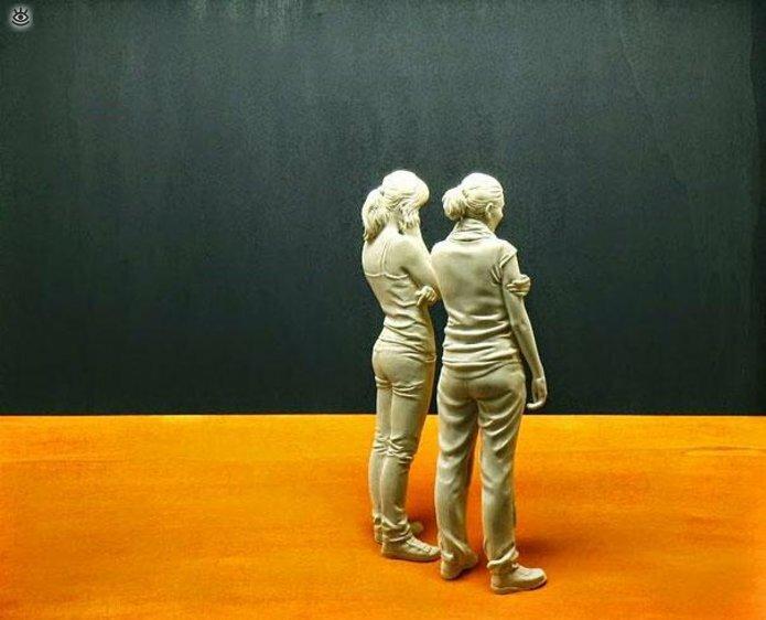 Удивительные деревянные скульптуры 1