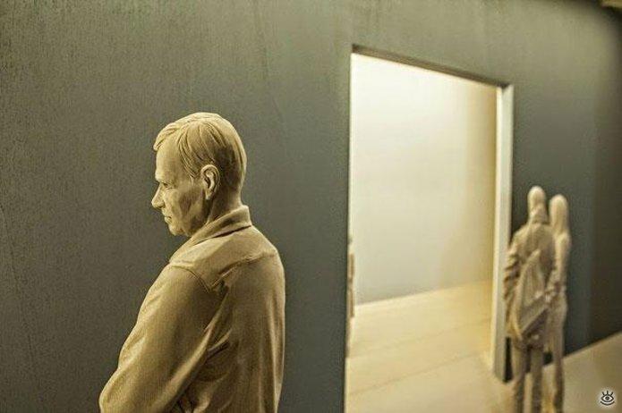 Удивительные деревянные скульптуры 4