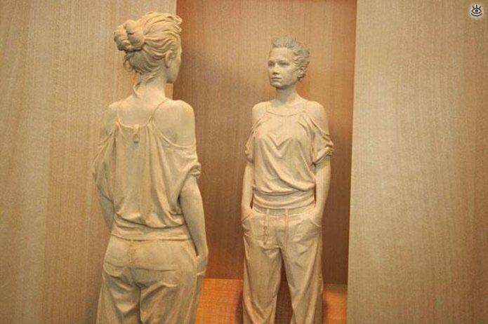 Удивительные деревянные скульптуры 5