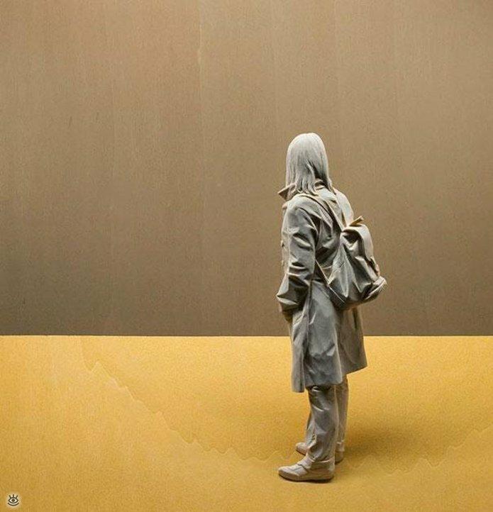 Удивительные деревянные скульптуры 6