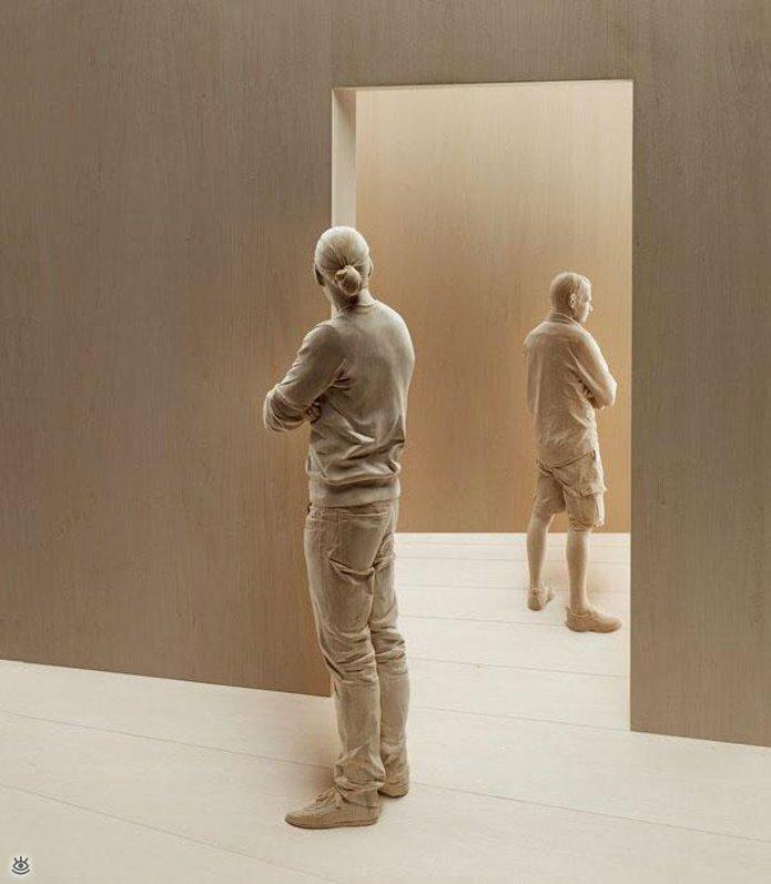 Удивительные деревянные скульптуры 9