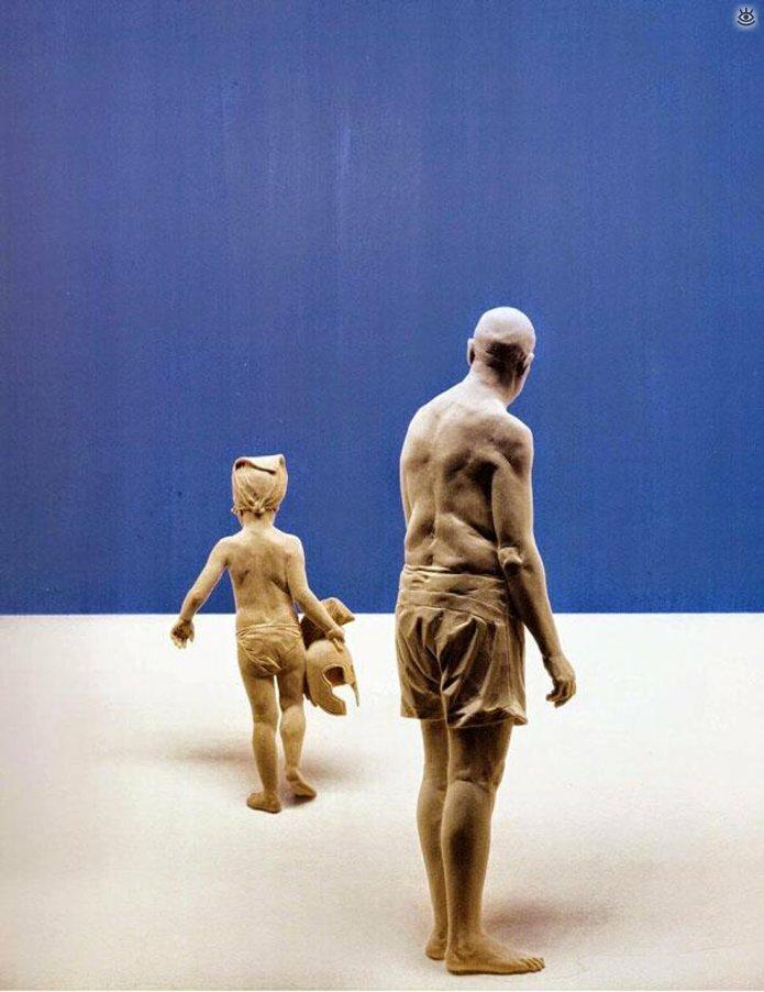 Удивительные деревянные скульптуры 10