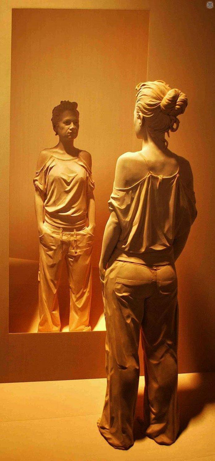 Удивительные деревянные скульптуры 11