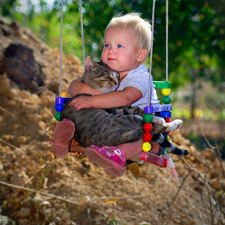 Фото приколы Детишки и кошаки (17 фото)