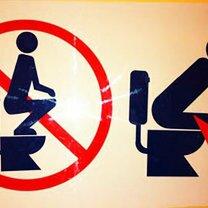 Юморные обозначения на туалетах