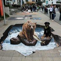 Невероятные рисунки на асфальте