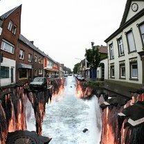 Фото приколы Невероятные рисунки на асфальте (11 фото)