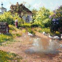 Русская деревня и природа фото