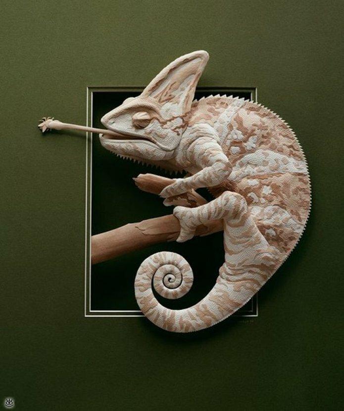 Бумажные природные скульптуры 2