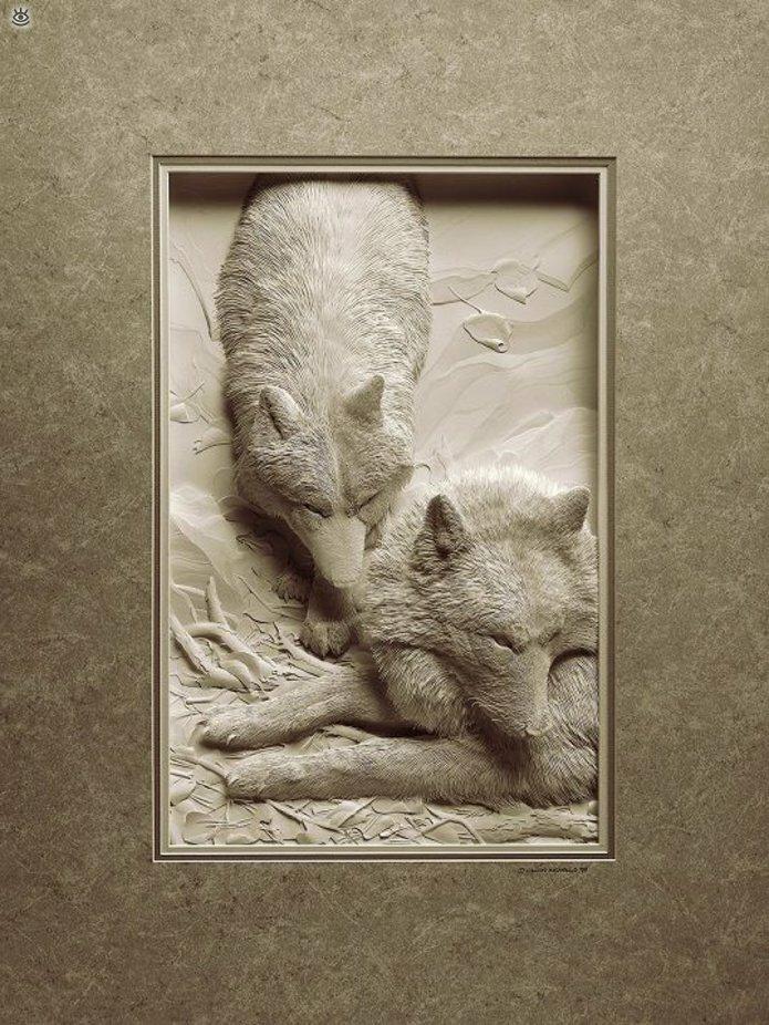 Бумажные природные скульптуры 3
