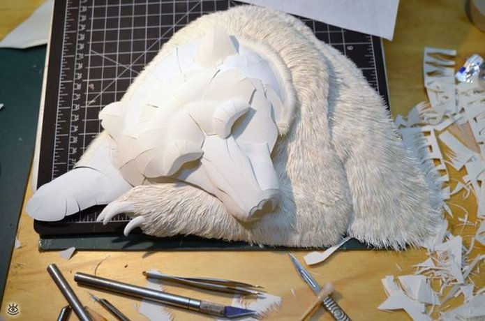 Бумажные природные скульптуры 4