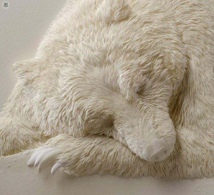 Бумажные природные скульптуры 5