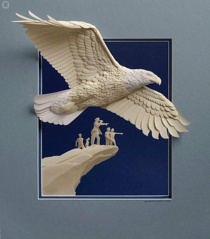 Бумажные природные скульптуры 7