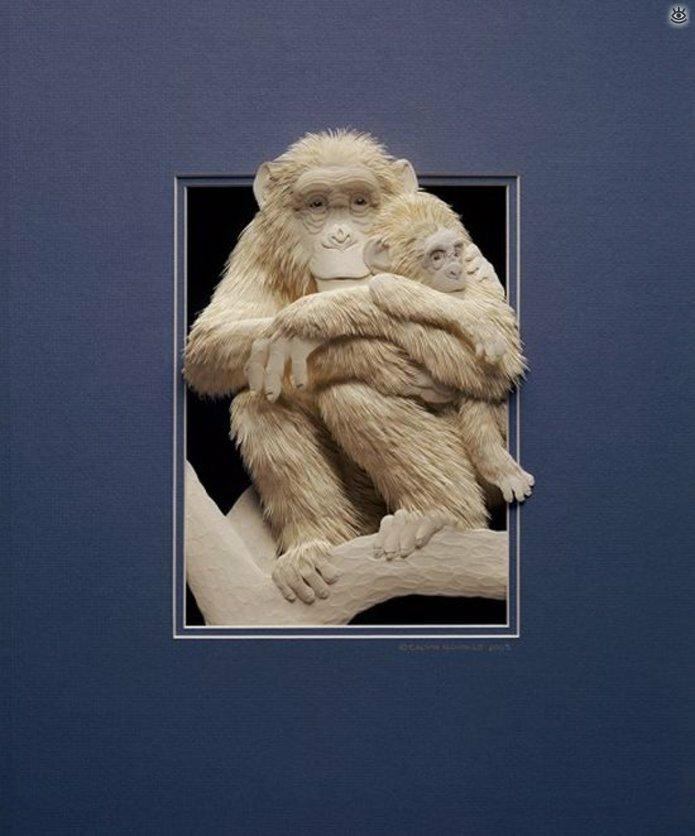 Бумажные природные скульптуры 8