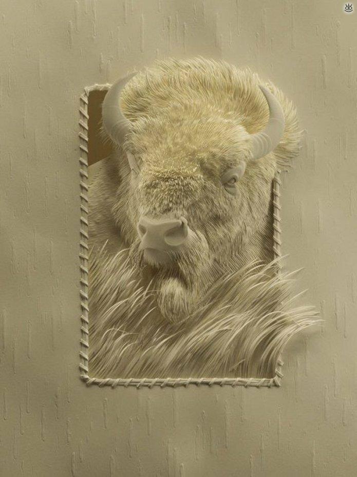 Бумажные природные скульптуры 9