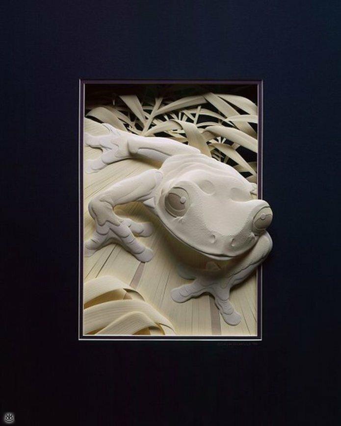 Бумажные природные скульптуры 10