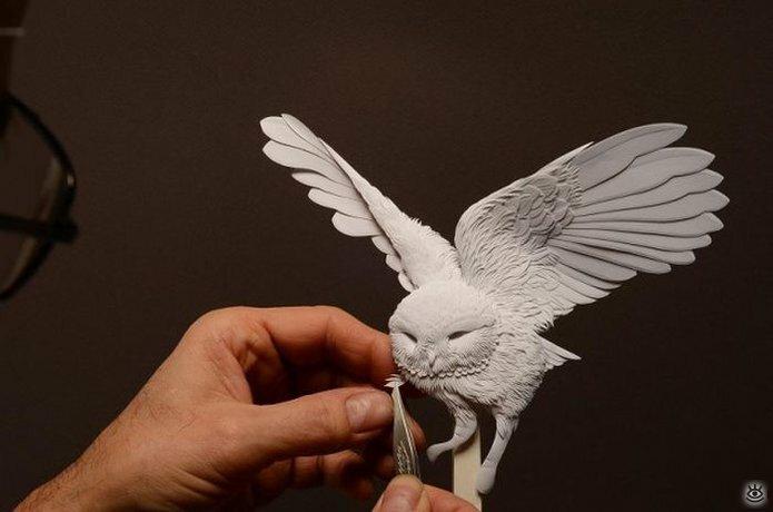 Бумажные природные скульптуры 11