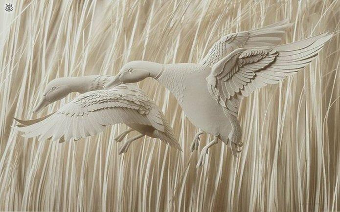 Бумажные природные скульптуры 12