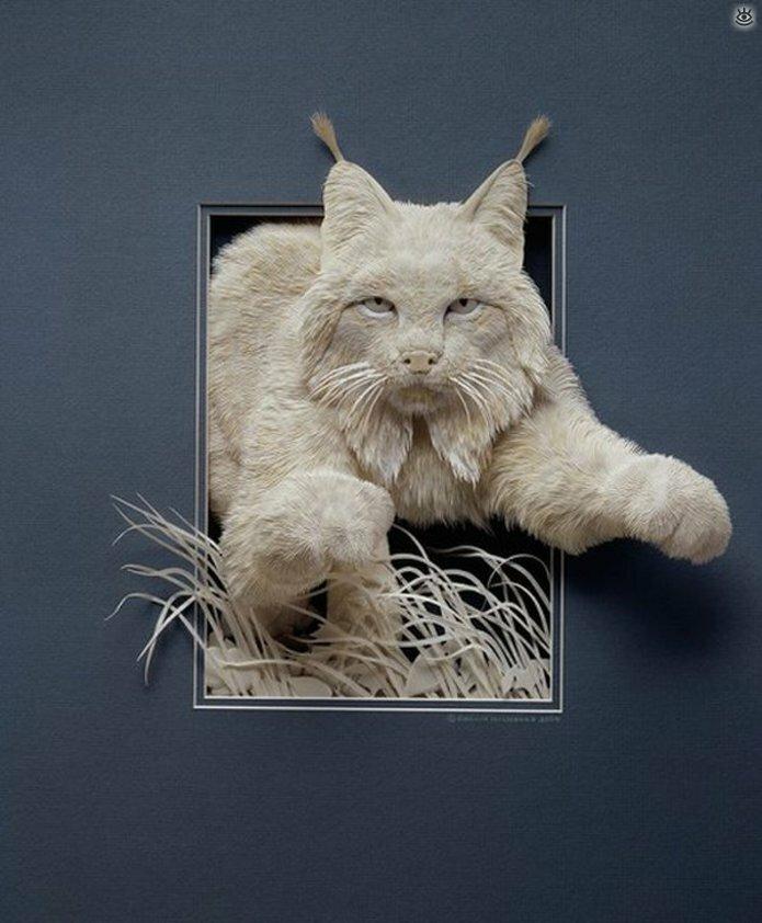 Бумажные природные скульптуры 13