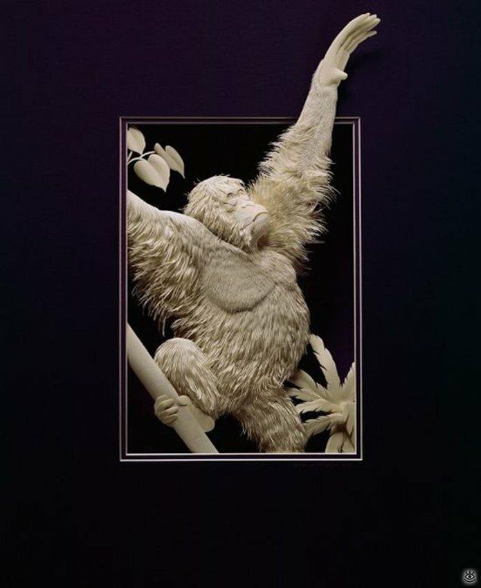 Бумажные природные скульптуры 14