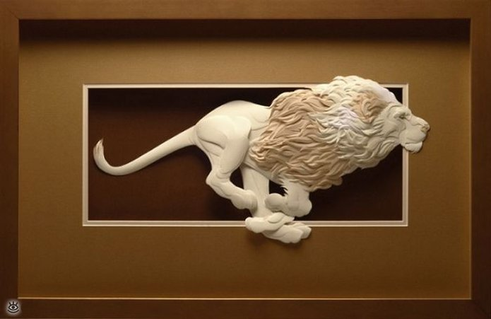 Бумажные природные скульптуры 15