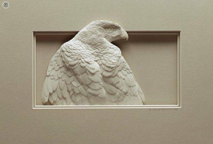 Бумажные природные скульптуры 16