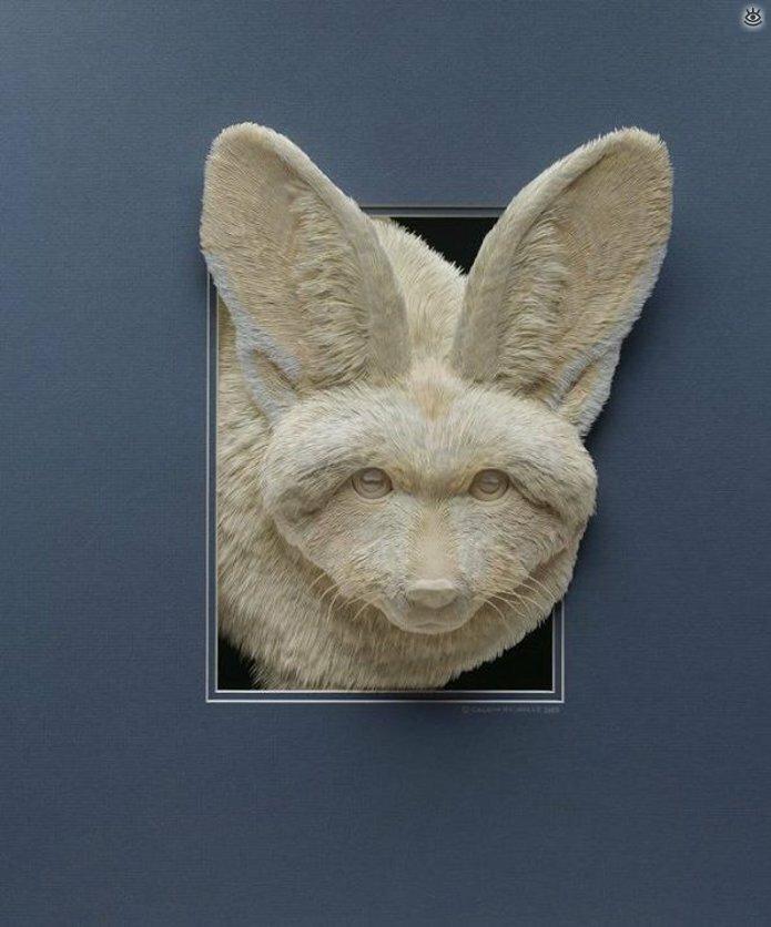 Бумажные природные скульптуры 17