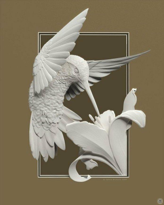 Бумажные природные скульптуры 18