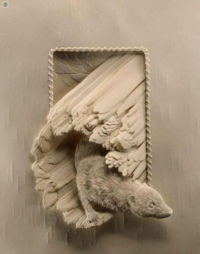 Бумажные природные скульптуры 21