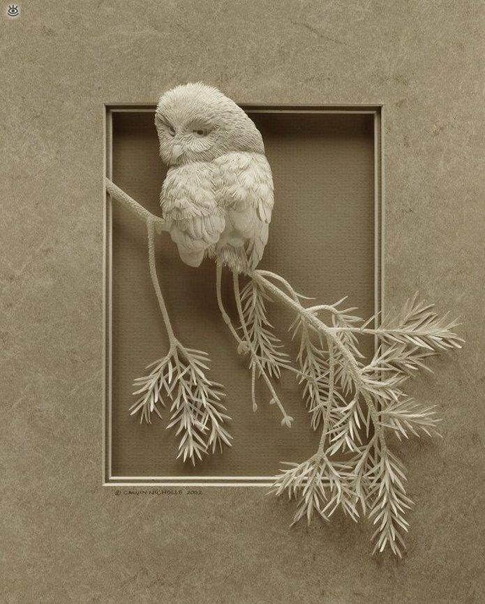 Бумажные природные скульптуры 23