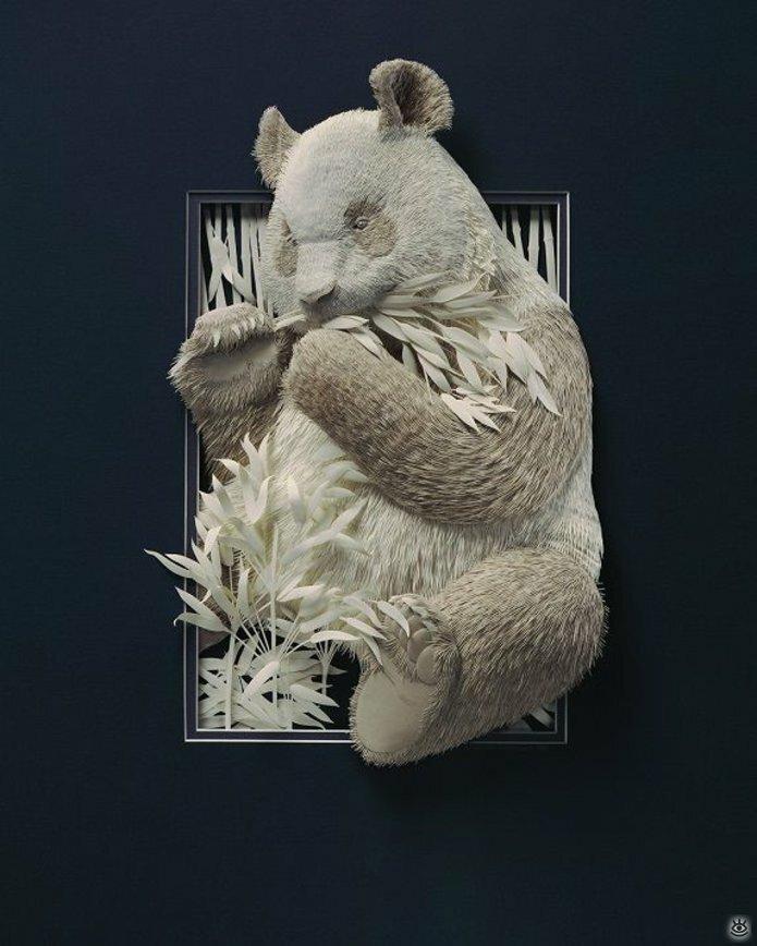 Бумажные природные скульптуры 24