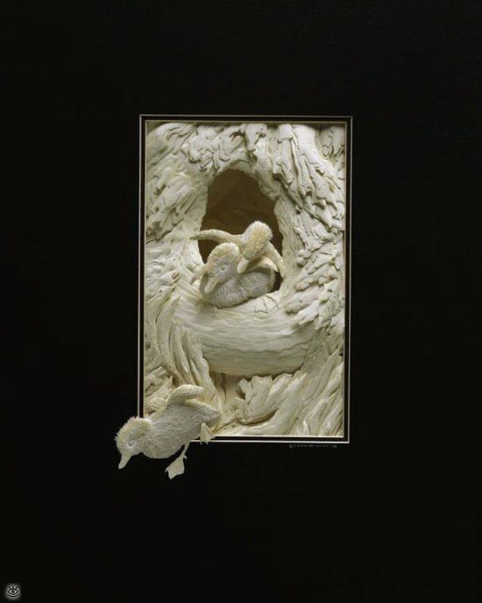 Бумажные природные скульптуры 25