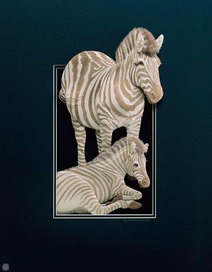 Бумажные природные скульптуры 26