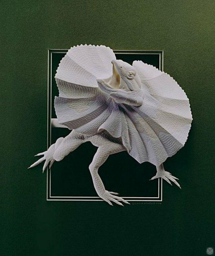Бумажные природные скульптуры 27