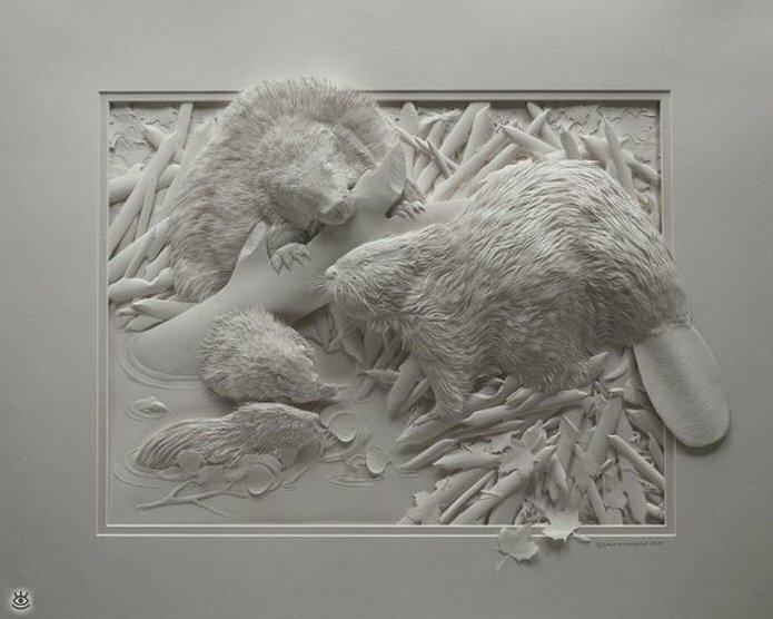 Бумажные природные скульптуры 28